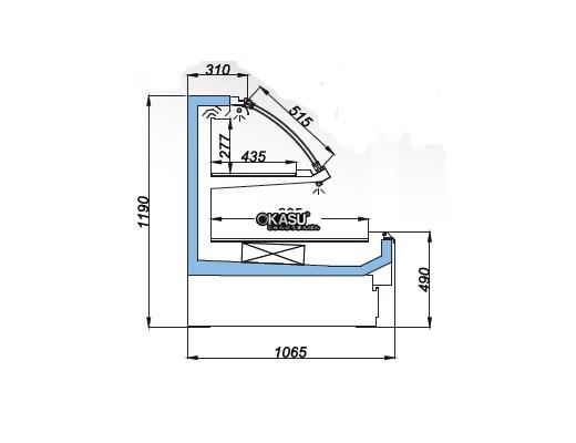 Tủ trưng bày tự phục vụ 2 ngăn OPO SME0M2-06CD2 - ảnh 1