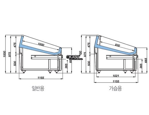 Tủ trưng bày hải sản có ngăn kéo OPO SMF0N2-08S - ảnh 1