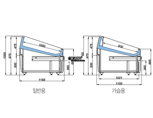 Tủ trưng bày hải sản có ngăn kéo OPO SMF0N2-08SG - ảnh 1