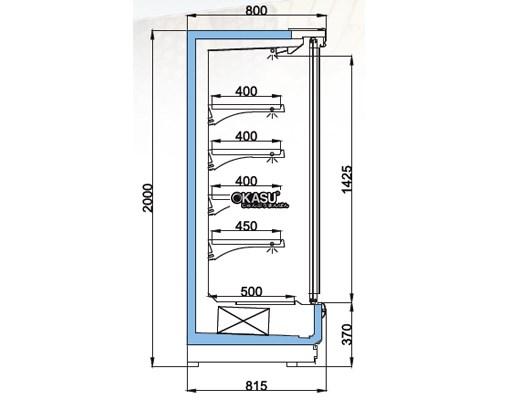Tủ mát trưng bày nhiều ngăn dạng mở cửa trượt OPO SMC4D2-08SD - ảnh 1