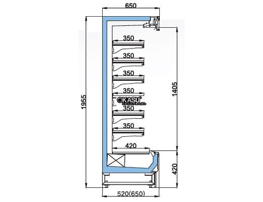 Tủ mát trưng bày nhiều ngăn dạng mở OPO SMC6D2-06LR - ảnh 1