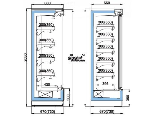 Tủ mát cửa trượt nhiều tầng OPO SMM5D2-08SPD - ảnh 1