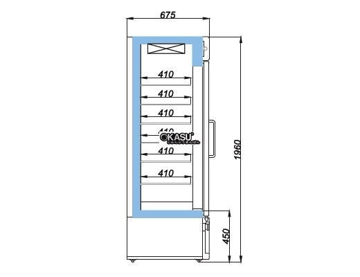 Tủ đông Reach trưng bày OPO XR-2DMS - ảnh 1
