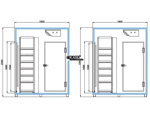 Tủ mát trưng bày nước giải khát OPO W6D1-4DS - ảnh 1