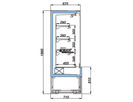 Tủ mát trưng bày nhiều ngăn dạng mở OPO SMX3D2-03P - ảnh 1