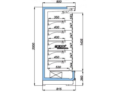 Tủ mát trưng bày nhiều ngăn dạng mở OPO SMC5D2-08S - ảnh 1