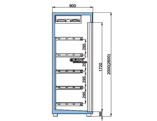Tủ trưng bày sữa, nước uống cửa trượt OPO XPD5-SSD - ảnh 1