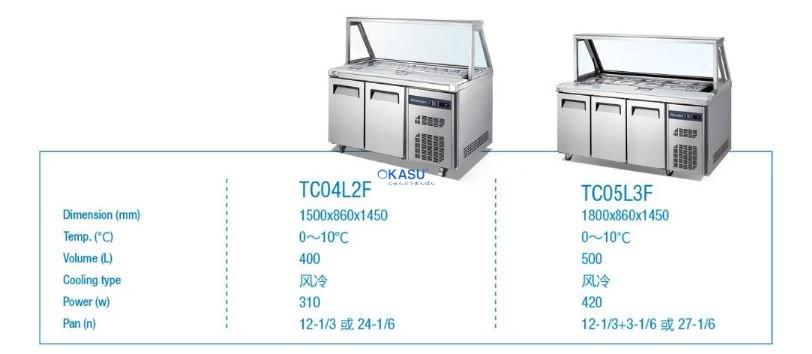 Bàn mát trưng bày Salad 3 cánh OKASU TC05L3F - ảnh 1