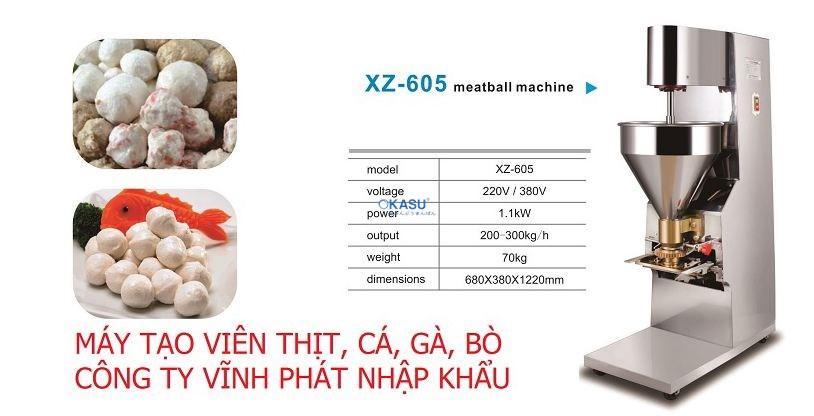 Máy tạo viên thịt làm chả cá, bò viên năng suất cao SZ-605 - ảnh 1
